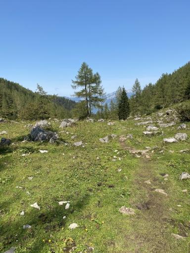 Die wunderschöne Landschaft in Vorderstoder, dem Bergland des Toten Gebirges.