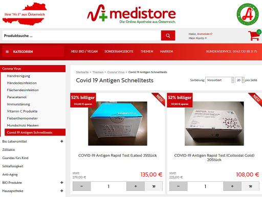 COVID 19 Antigen-Schnelltests ab 4,20 Euro/Stück für zu Hause bestellbar.
