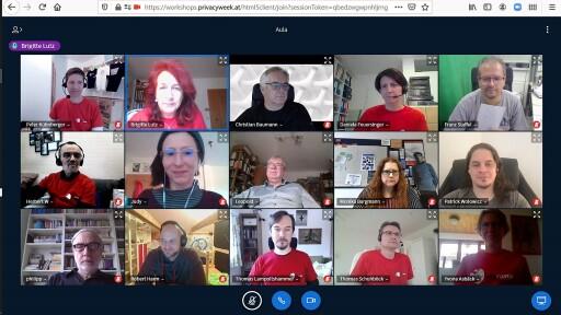 Teilnehmer/innen beim virtuellen govcamp vienna