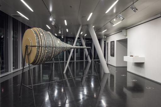 """STRABAG Artlounge, Ausstellungsansicht, Jochen Höller """"Prozess und Realität"""", 2016"""
