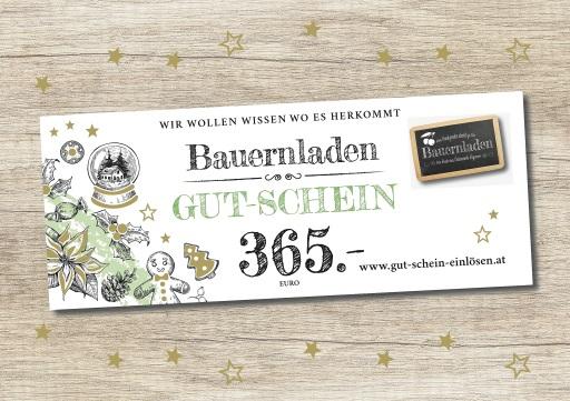 bauernladen.at Gut-Schein im Wert von 365 Euro