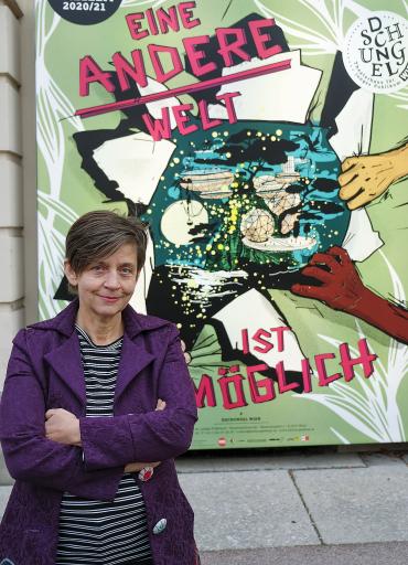 Corinne Eckenstein, Indendantin Dschungel Wien Theaterhaus für junges Publikum im Namen von 9 Kinder-Kulturinstitutionen