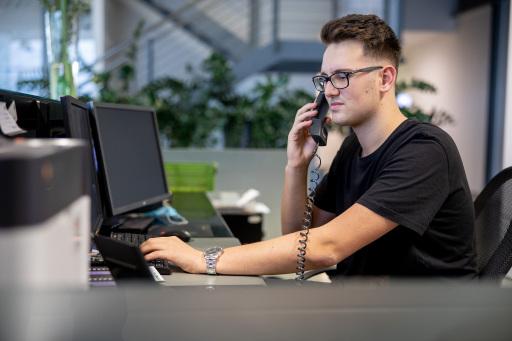 Yannick Pollek wurde bei der Wiener Firma Tele Haase zum Industriekaufmann ausgebildet.