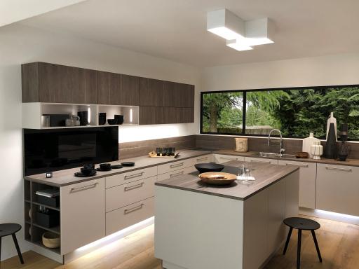 """OZONOS Deckenleuchte """"Stella"""" mit integriertem Aircleaner in einer Nolte Küche"""