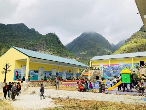Neue Schule in Sang Sung, Ha Giang (Provinz), Vietnam