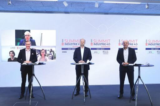 Hybride Pressekonferenz anlässlich des 5. Summit Industrie 4.0 in Graz