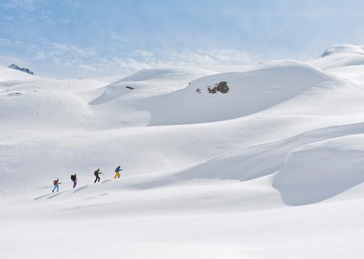Skitour im Gebiet Langtalereckhuette in den Ötztaler Alpen.