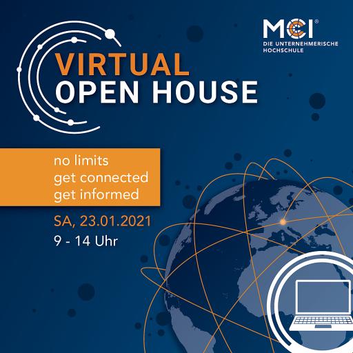 Das Open House am MCI findet am 23. Jänner 2021 zum ersten Mal virtuell statt.