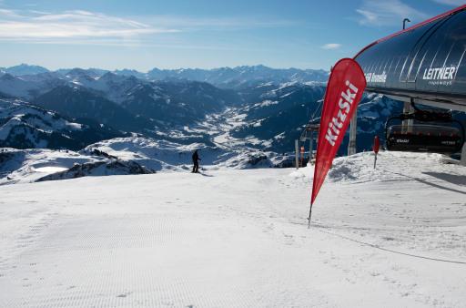 Vom Parkplatz bis zur Piste: KitzSki ist für den Winter bereit. Im Bild: Bergstation 6SB Brunelle am Kitzbüheler Horn