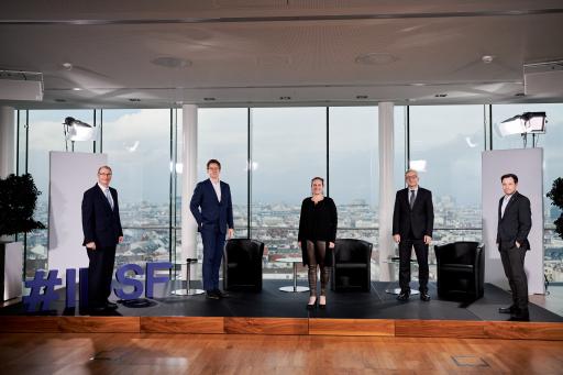 Das IDSF Organisationsteam (v.l.n.r.): Donald Dudenhoeffer (AIT), Matthias Grabner (AWO), Verena Serini (AIT), Helmut Leopold (AIT), Michael Mürling (AIT); nicht im Bild: Wolfgang Grabuschnig (AIT), Philipe Reinisch (AIT)