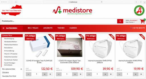 medistore, die Online-Apotheke aus Österreich, bietet für Privatpersonen FFP2-Masken mit einem einfachen Mausklick.