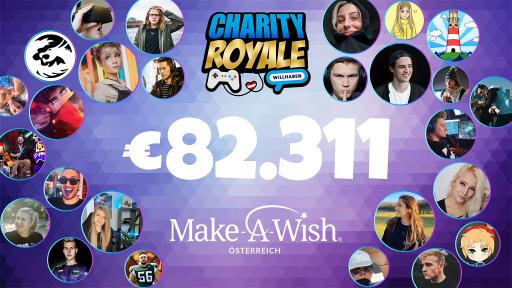 """Erfolgreiche """"Charity Royale"""" 2020 - mehr als 80.000 € für Make-A-Wish"""
