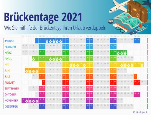 Bild: So verdoppeln Sie Ihren Urlaub 2021!   Kalender ...
