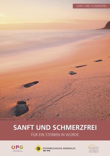"""Neue Krebshilfe-Broschüre zum Thema """"Sterben""""."""