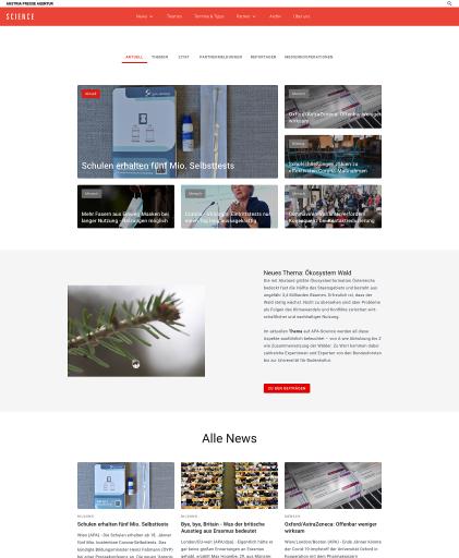 APA-Science mit neuer Website