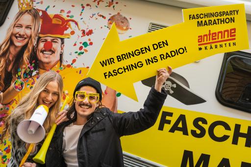 Ab 1.11. geht bei Ben & Kerstin auf Antenne Kärnten der Fasching on air