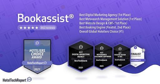 Bookassist - Hotel Tech Awards 2021 - Hoteliers Choice Award