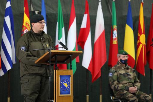 Generalmajor PLATZER bei seiner Ansprache bei Kommandoübergabe