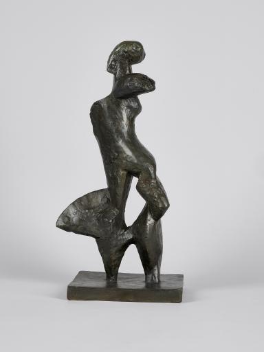 Josef Pillhofer (1921–2010), Radfahrerin, 1951, Bronze, 58 x 58 x 21 cm, Privatbesitz