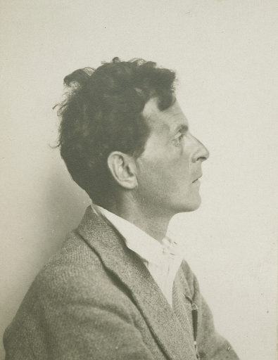 MORIZ NÄHR (1859–1945), Ludwig Wittgenstein, undatiert, Silbergelatineabzug, 6,7 × 5,2 cm Detail aus Ludwig Wittgensteins Fotoalbum, 1930er Jahre, The Ludwig Wittgenstein Archive Cambridge