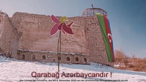 Das Schloss von Schuscha wurde am 8. November 2020 von der armenischen Okkupation befreit! Chari-Bülbül ist das Symbol des Gedenkens an die gefallenen aserbaidschanischen Soldaten im Vaterländischen Krieg!