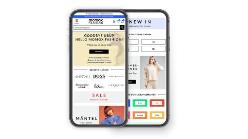 """Second Hand Onlineshop momox fashion (mobile) / Weiterer Text über ots und www.presseportal.de/nr/71973 / Die Verwendung dieses Bildes ist für redaktionelle Zwecke honorarfrei. Veröffentlichung bitte unter Quellenangabe: """"obs/momox GmbH"""""""