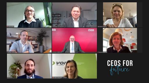 TopmanagerInnen präsentieren die Initiative von CEOs FOR FUTURE