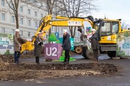 U2xU5: Spatenstich bei Rathaus und Frankhplatz