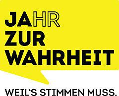 """Logo der Initiative """"JAhr zur Wahrheit. Weil's stimmen muss."""" / Weiterer Text über ots und www.presseportal.de/nr/143022 / Die Verwendung dieses Bildes ist für redaktionelle Zwecke honorarfrei. Veröffentlichung bitte unter Quellenangabe: """"obs/Bertelsmann Content Alliance"""""""