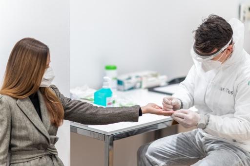 Probeabnahme für Antikörper-Test