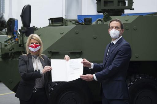 FBM Tanner Pandurvertragsunterzeichnung am 26 01 2021