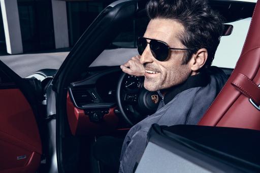 """Porsche Design Eyewear Kampagne 2021 / Patrick Dempsey als Gesicht von Porsche Design Eyewear / Porsche Design / Patrick Dempsey / 2021 / Weiterer Text über ots und www.presseportal.de/nr/71386 / Die Verwendung dieses Bildes ist für redaktionelle Zwecke verwendbar bis 31.12.2021. Veröffentlichung bitte unter Quellenangabe: """"obs/Rodenstock Group"""""""