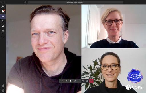 Lukas Kircher (C3-Gründer), Nicola Dietrich (Chief Strategy Officer bei COPE Content Performance Group) & Xenia Daum (CEO bei COPE Content Performance Group)