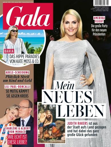 """GALA Cover 5/2021 (EVT: 28. Januar 2021) / Weiterer Text über ots und www.presseportal.de/nr/6106 / Die Verwendung dieses Bildes ist für redaktionelle Zwecke honorarfrei. Veröffentlichung bitte unter Quellenangabe: """"obs/Gruner+Jahr, Gala"""""""
