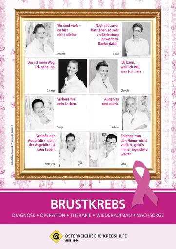 """Die Broschüre """"Brustkrebs"""" ist kostenlos bei der Krebshilfe im Bundesland erhältlich oder als Download unter www.krebshilfe.net. ILD zu OTS -"""