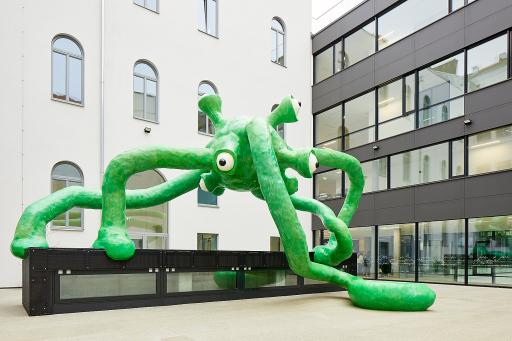BIG ART: Für die Kunstinitiative der Bundesimmobiliengesellschaft ist MYX das 16. Kunstprojekt an einer Schule