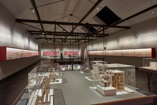 """MAK-Ausstellungsansicht, 2020, """"ADOLF LOOS. Privathäuser"""", MAK-Schausammlung Gegenwartskunst"""
