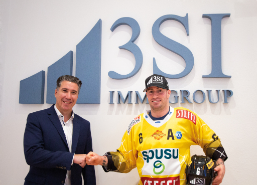 3SI Geschäftsführer Michael Schmidt (li.) und Ralf Rotter (Vienna Capitals) Brustbild