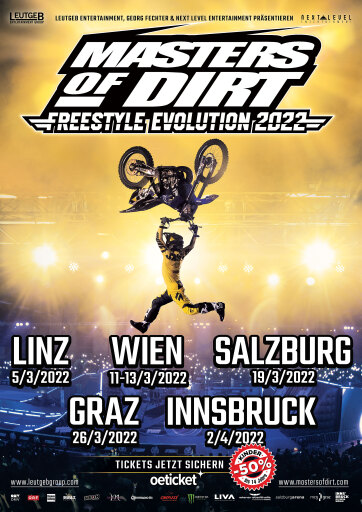 MASTERS OF DIRT - TOURVERSCHIEBUNG auf 2022