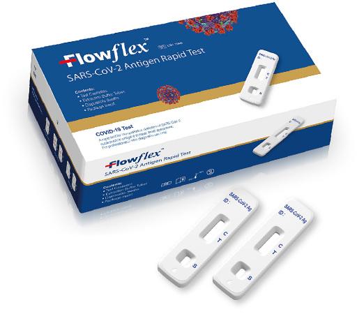 Flowflex SARS-CoV-2 Schnelltest, 5 Test-Kits pro Box
