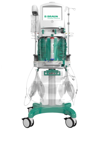 """The OMNI® extracorporeal platform is intended to perform continuous blood purification treatments and therapeutic plasma exchange. The OMNI® in combination with OMNIset®* disposable kits is indicated for patients with acute kidney injury and/or fluid overload and/or intoxication./B. Braun / Editorial use of this picture is free of charge. Please quote the source: """"obs/B. Braun Melsungen AG"""""""