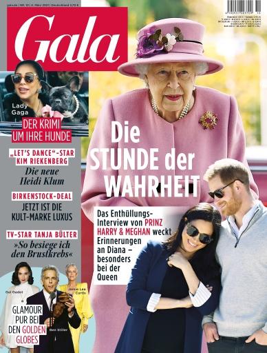 GALA Cover 10/2021 (EVT: 4. März 2021) / Weiterer Text über ots und www.presseportal.de/nr/6106 / Die Verwendung dieses Bildes ist für redaktionelle Zwecke unter Beachtung ggf. genannter Nutzungsbedingungen honorarfrei. Veröffentlichung bitte mit Bildrechte-Hinweis.