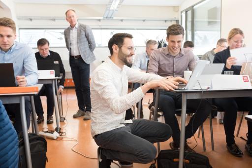Aufnahme des Seminar -Settings an der SMBS während eines Executive MBA Moduls