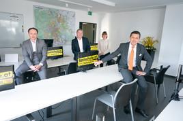 Stadtrat Peter Hanke zu Besuch beim Taxivermittler Taxi 40100