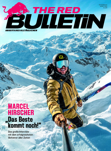 Marcel Hirscher am Cover der neuen Ausgabe von The Red Bulletin