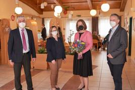 Soziallandesrätin Christiane Teschl-Hofmeister zu Besuch im PBZ Mank