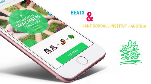 Beat3 und Jane Goodall Institut - Austria   ZusammenWachsen Challenge für Kinder und Jugendliche