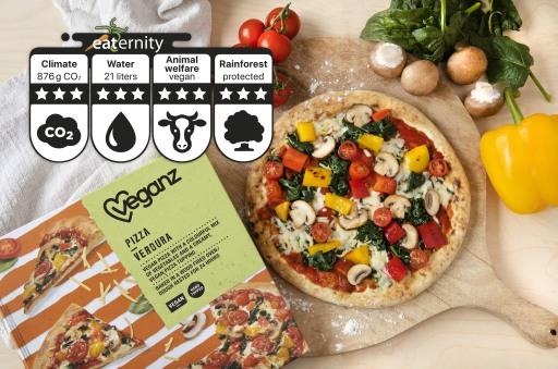 Veganz Pizza Verdura / Weiterer Text über ots und www.presseportal.de/nr/137749 / Die Verwendung dieses Bildes ist für redaktionelle Zwecke unter Beachtung ggf. genannter Nutzungsbedingungen honorarfrei. Veröffentlichung bitte mit Bildrechte-Hinweis.