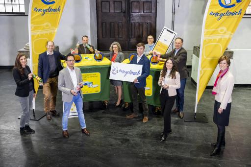 Namhafte österreichische Getränkehersteller präsentieren als ersten Schritt der gemeinsamen RecycleMich-Initiative die RecycleMich-App