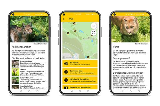 App Mock-Up: Ab 18. März 2021 steht die TIERISCH COOL App kostenfrei zum Download bereit